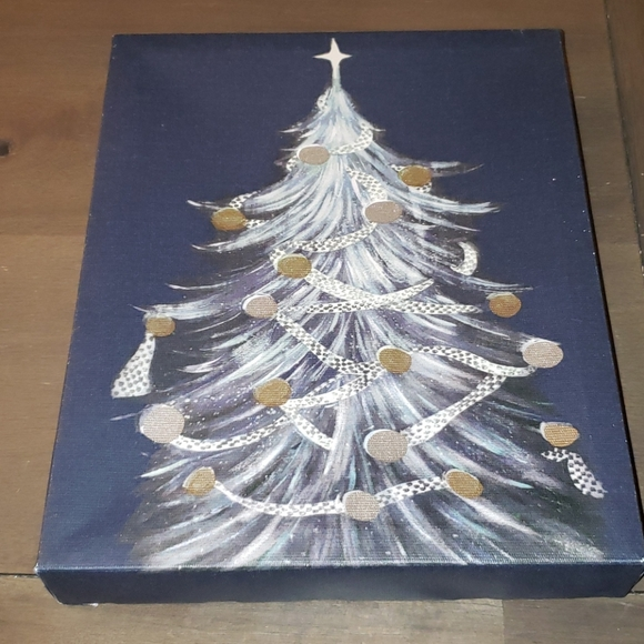 NWT Cute Christmas Tree Canvas Picture